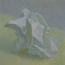 Crumpled tempera